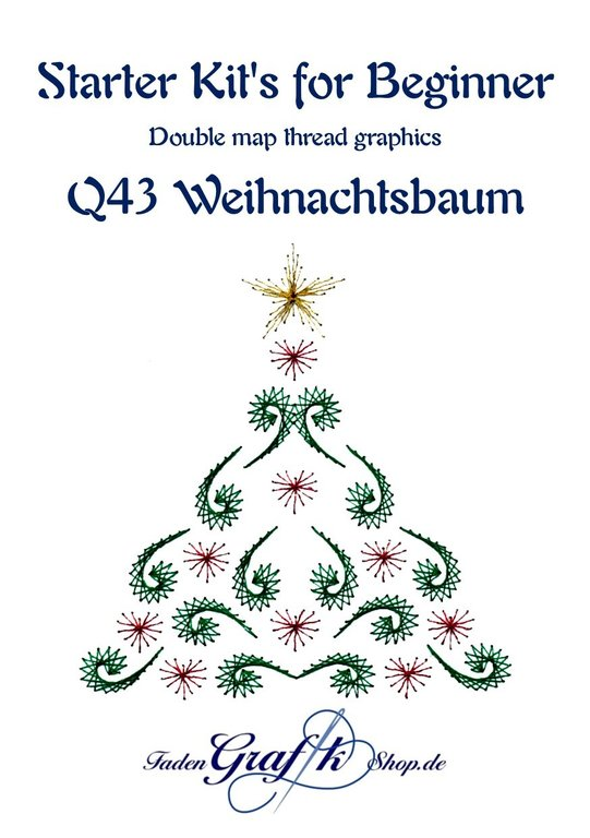 Probierset Q43 Weihnachtsbaum English version